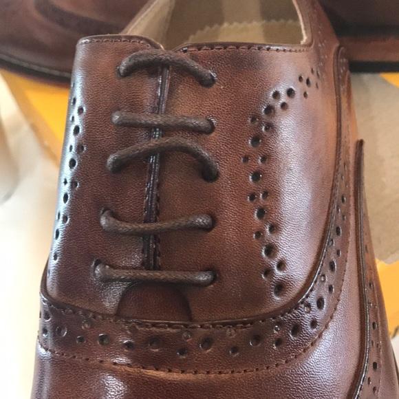 d4846c0ca3e Men's Brown Oxford Wingtip Shoes Size 9